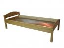 Кровать детская одноярусная с «НИЗКИМИ СПИНКАМИ» МАССИВ  L-1400