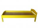 Кровать детская одноярусная с «НИЗКИМИ СПИНКАМИ» ЦВЕТНАЯ  МАССИВ  L-1400