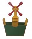 Стеллаж «МЕЛЬНИЦА» для спортивного инвентаря и игрушек ЦВЕТНОЙ или ДУБ светлый