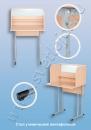 Мебель для специализированных и компьютерных кабинетов Стол ученический лингафонный регулируемый