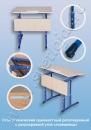 Стол ученический одноместный регулируемый с регулировкой угла наклона