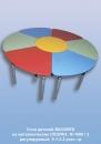 Стол детский ВАСИЛЕК  на металлических ОПОРАХ  Ф-1900/ 2   регулируемый  0-1-2-3 рост. гр.