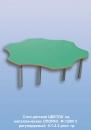 Столы детские Стол детский ЦВЕТОК  на металлических ОПОРАХ  Ф-1500/ 2   регулируемый  0-1-2-3 рост. гр.