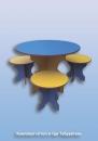 Комплект«Стол и три Табуретки»