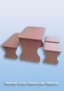 Комплект «Стол, Скамья  и два Табурета»