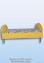Кровать детская цветная металлические ножки L-1200